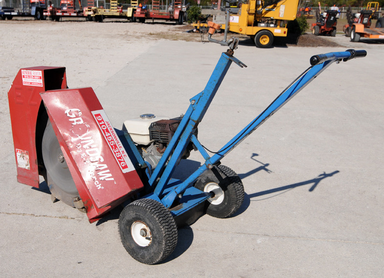"""EZ TRENCHER"" ""GROUND SAW"" ""TRENCHER RENTAL"" ""GENERAL RENTAL CENTER"""